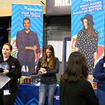"""pepsico employees at uc davis career fair"""