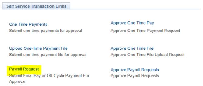 final pay payroll request