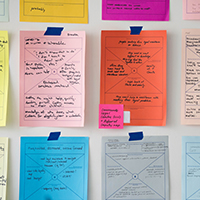 """colorful paper with process diagrams"""