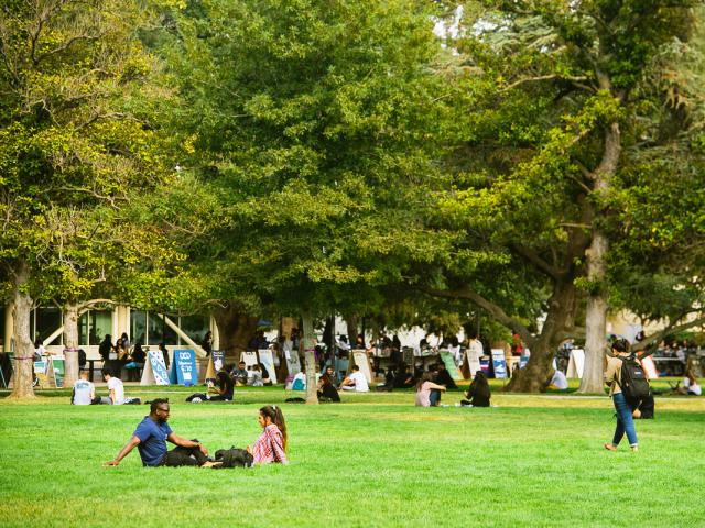 uc davis quad with students