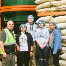 Photo of tour group at Peet's facility.